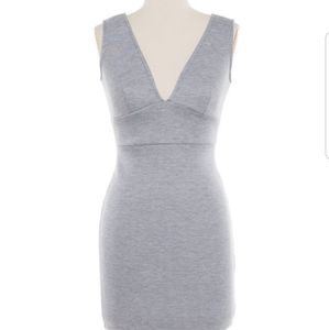 Dresses & Skirts - V neck gray dress